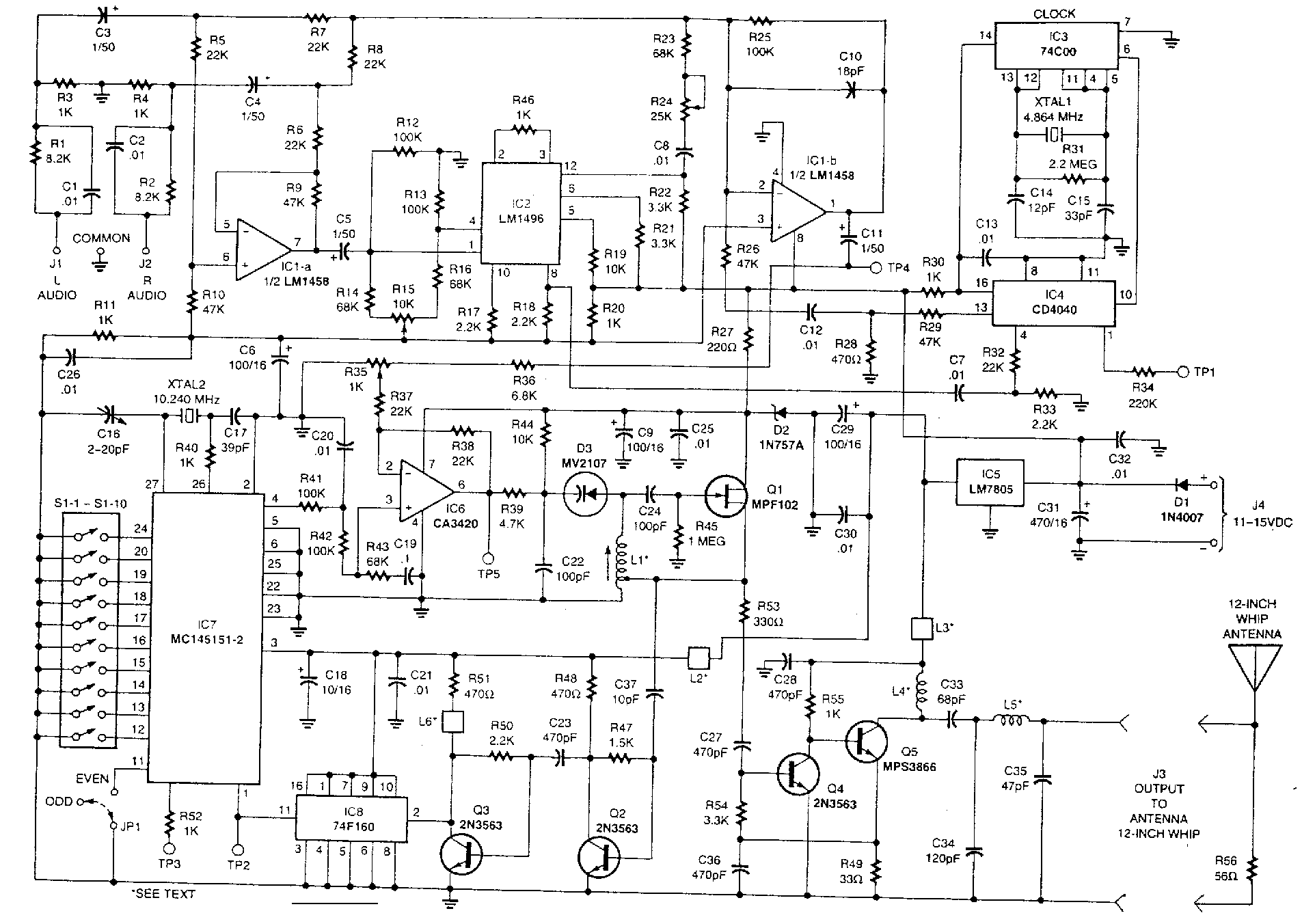 Opamp Vhf Fm Transmitter Circuit Diagram Image