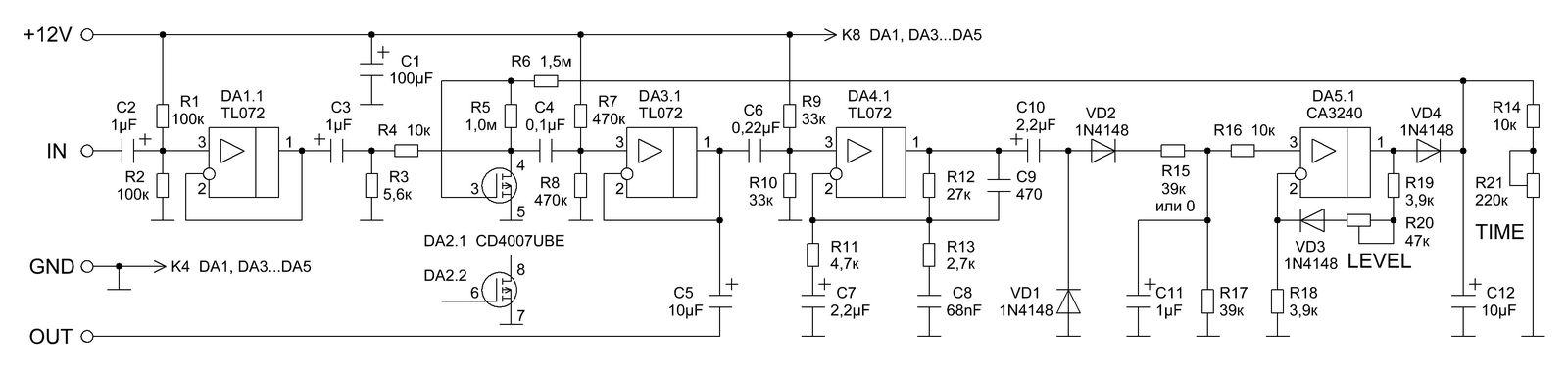VRTP -> Volume Compressor Alesis Schematic on