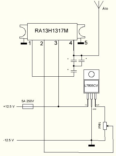 Hi EASY, What is the output frequency of RA13H1317M jammer?