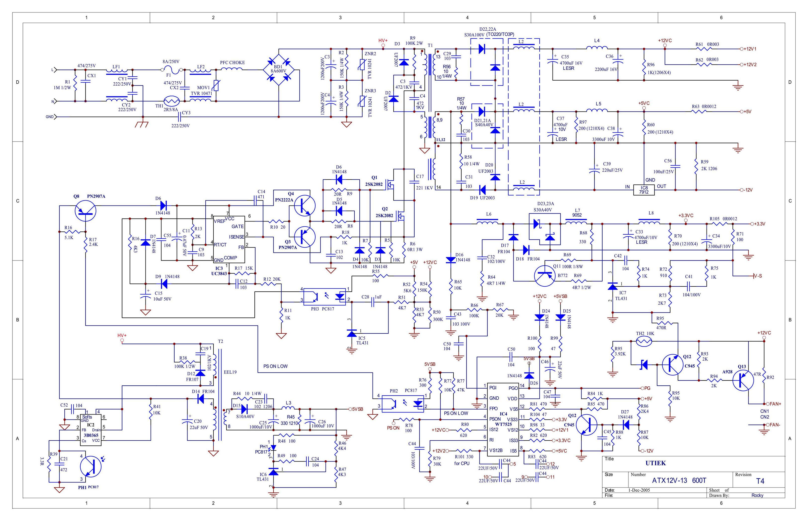 Pics on Schematic Diagram Power Supply.