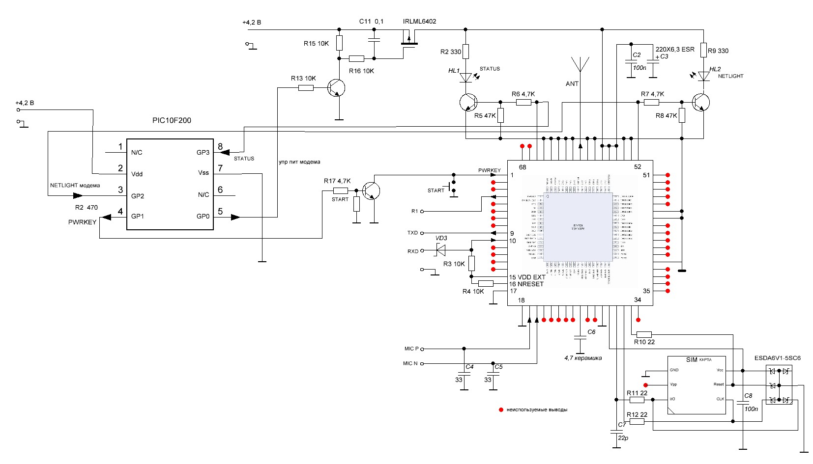 GSM/GPS Localizer with SIM908 module Open